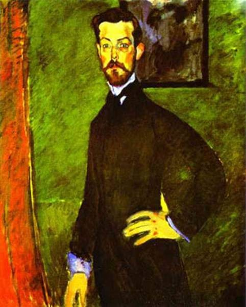 portrait of paul alexandre against a green background 1909 XX private collection